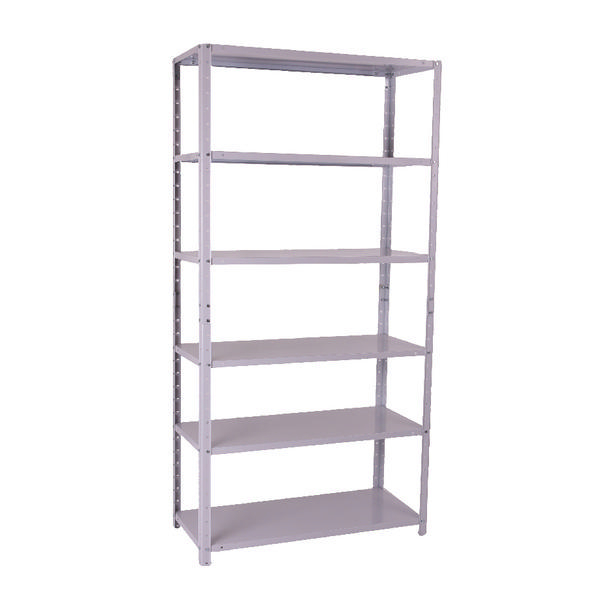 Storage Solutions Medium Duty Bolted 6-Shelf Unit Grey ZZBS6GR180C09031