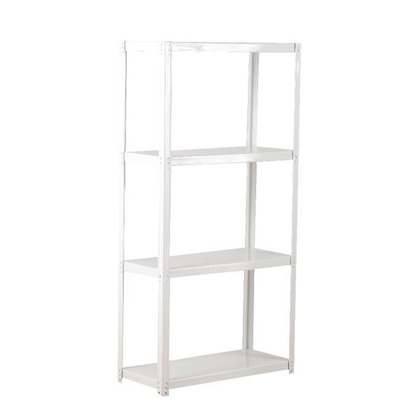 Zamba White 4-Shelf Boltless Shelving ZZLS4WH140B07030