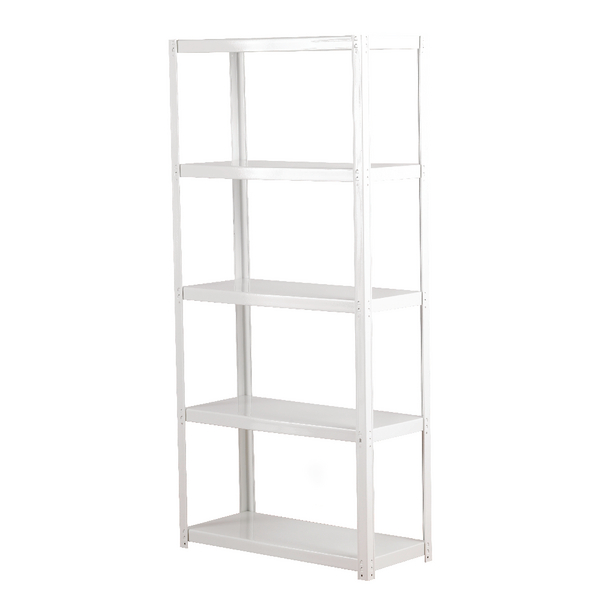Zamba White 5-Shelf Boltless Shelving Unit ZZLS5WH150B07030