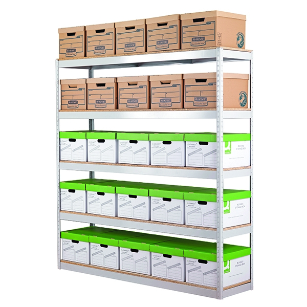 Zamba Grey Stock/Archiving Shelving W1500mm STS834556