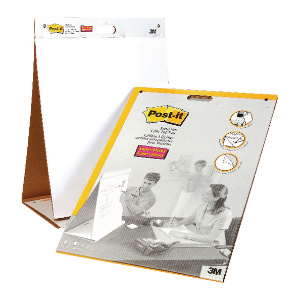Post It Table Top Easel Refill Pad Plain White 563r