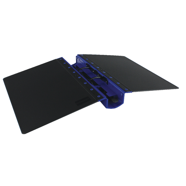 Guildhall Gl Ergogrip Binder Capacity 400 Sheets 4 Prong 4509z: Guildhall GL Ergogrip 2 Ring A4 Binder Blue (2 Pack) 4509
