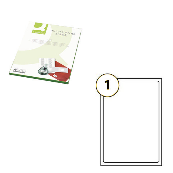 letter to number q connect white multipurpose label 210 x 287mm 1 per sheet 23250