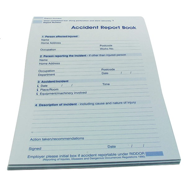 accident report books Download a free accident/incident report form to make your document professional and perfect find other professionally designed templates in tidyform.
